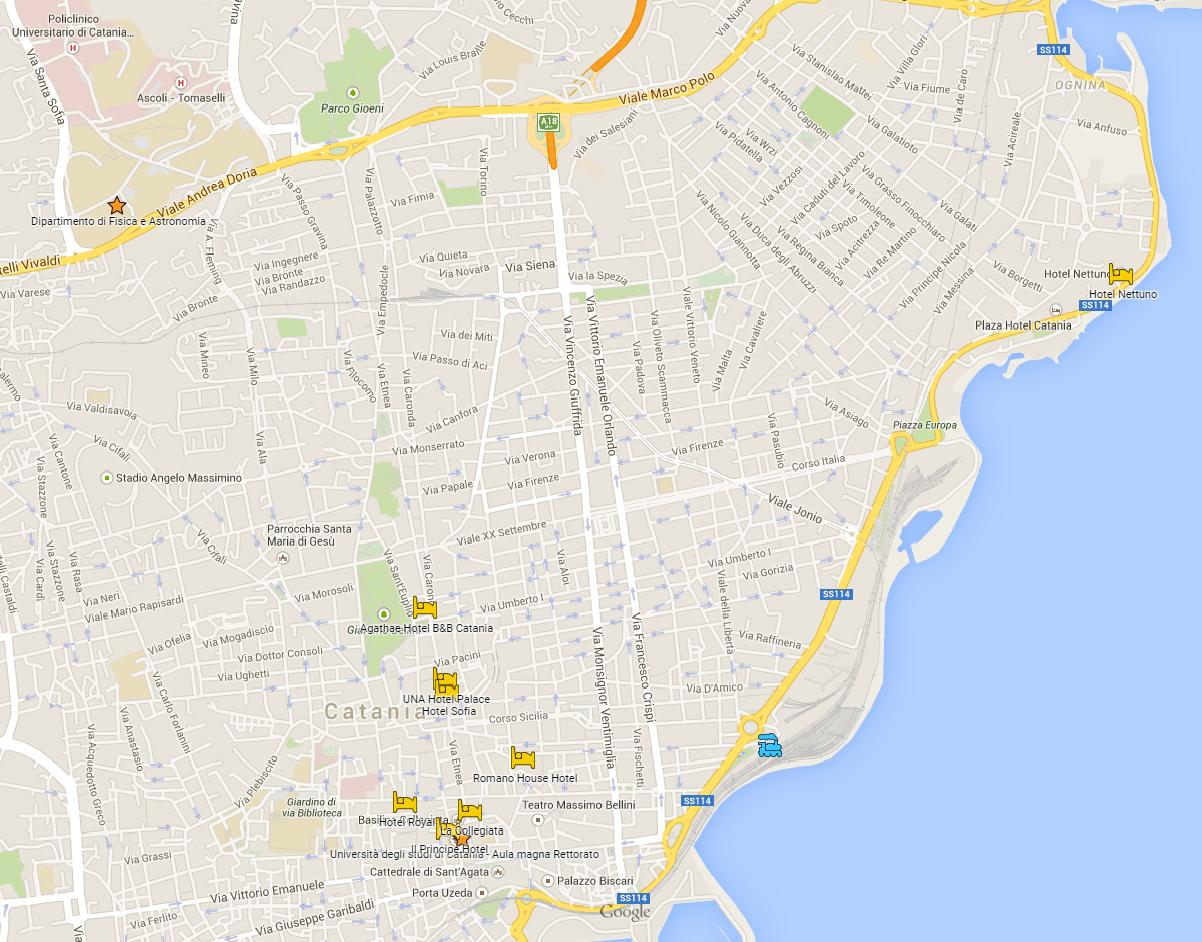 Mappa dei luoghi di SAIt 2015