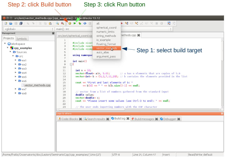 Code::Blocks building a target